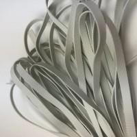Nyers lapos gumi 5 mm, 10m/csomag - fehér