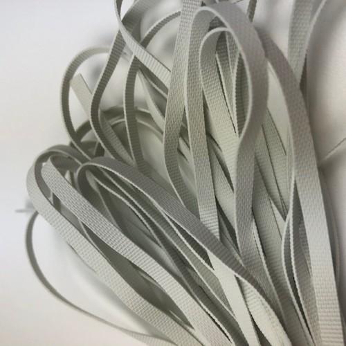 Nyers lapos gumi 4 mm - fehér