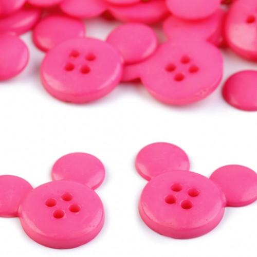 Gyermek gomb mickey rózsaszín